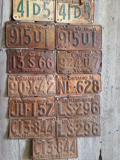 Old rusty license plates