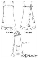 Origami Apron sewing pattern by Indygo Junction