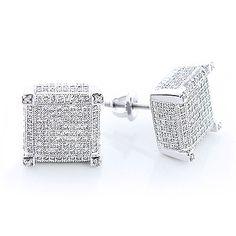 14K Diamond Stud Earrings 1.15  71% off  www.itshot.com Diamond Studs, Cufflinks, Stud Earrings, Accessories, Jewelry, Clocks, Jewelery, Earrings, Jewlery