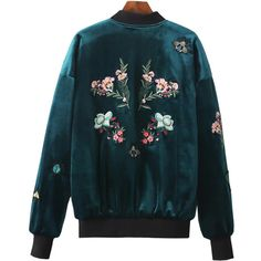 Velvet Embroidery Jacket (€57) ❤ liked on Polyvore featuring outerwear, jackets, embroidered jacket, blue velvet jacket, embroidery jackets, velvet jacket and blue jackets