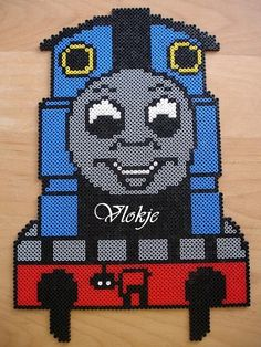 Thomas hama perler beads by paige Melty Bead Patterns, Perler Patterns, Beading Patterns, Perler Beads, Fuse Beads, Perler Bead Designs, Hama Art, Beads Pictures, Melting Beads