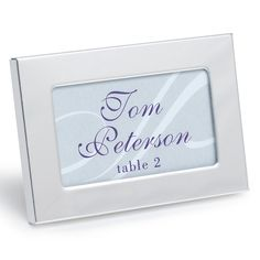 Classic Place Card Frame - Silver