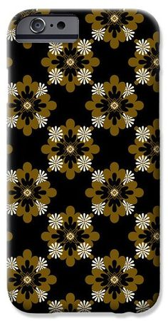 Floral Pattern iPhone 6 Case by Christina Rollo.  Protect your iPhone 6 with an impact-resistant, slim-profile, hard-shell case.  The image is printed directly onto the case and wrapped around the edges for a beautiful presentation.  Simply snap the case onto your iPhone 6 for instant protection and direct access to all of the phones features!