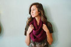 Chunky infinity scarf purple scarf purple infinity by Shanionie,