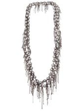 SAMIRA13  fringe pearl necklace