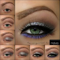 Silver and Purple Eye Bling