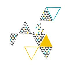 YOKE triangle screen print london design week
