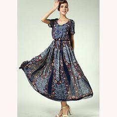 TS palacio de la vendimia vestido floral de impresión Maxi  – USD $ 30.09