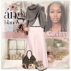 A fashion look from October 2015 featuring Free People sweaters, Donna Karan blouses and Valentino skirts. Browse and shop related looks.