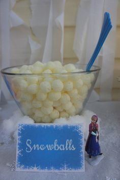 Frozen themed food - Snowballs