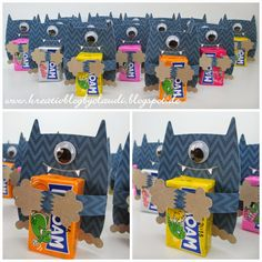 Halloween Kids, Halloween Treats, Happy Halloween, Candy Crafts, Paper Crafts, Diy For Kids, Crafts For Kids, Monster Party, Monster High