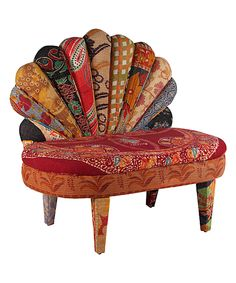 Look at this Red Paisley Peacock Side Chair on #zulily today!