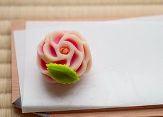 Wagashi for February, camellia