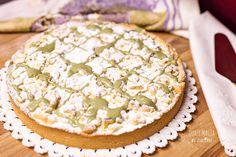 Sbriciolata+ricotta+gocce+di+cioccolato+e+crema+di+pistacchi
