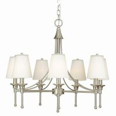 Sadie Collection 7-Light Satin Nickel Chandelier-21389-016 at The Home Depot