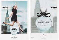 KATE SPADE 2015 print ad WALK ON AIR parfum perfume FRAGRANCE sample smell strip