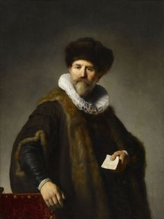Rembrandt Harmensz. van Rijn (1606–1669), Portrait of Nicolaes Ruts, 1631, oil on mahogany panel, 46 x 34 3/8 inches, The Frick Collection, New York.