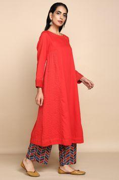 New Collections – maati crafts Yellow Dress, Gray Dress, Pink Fashion, Fashion Dresses, Red Kurti, Pink Jasmine, A Line Kurta, Kurta With Pants, Kurti Collection