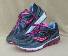 Saucony Womens Grid Trainer Mid BlackPur Size 5: Amazon.co