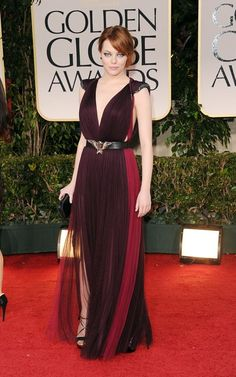 Emma Stone at the 2012 Golden Globes