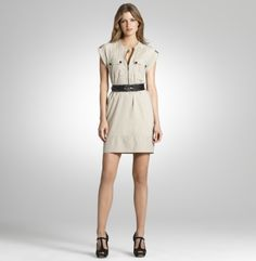 Kenneth Cole New York- Bold Hardware Shift Dress
