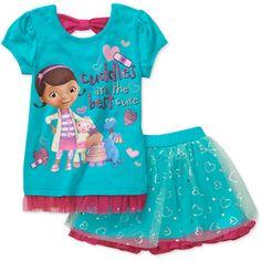 Doc McStuffins Toddler Girl Tee and Tutu Set