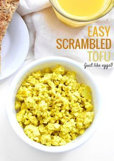 Easy Tofu Scrambled Eggs using this one ingredient that makes these so flavorful! Vegan Foods, Vegan Dishes, Vegan Vegetarian, Vegetarian Recipes, Healthy Recipes, Healthy Beans, Vegan Raw, Vegan Life, Firm Tofu Recipes