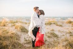 Engagement session on Montrose Beach | Photo by Artistrie Co.