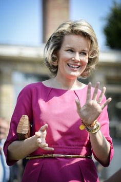 Queen Mathilde of Belgium visits the Medical Pedagogical Institute 'Huis aan Zee', 03.07.2014 in De Haan.