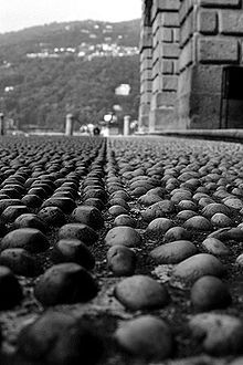 Italian cobble stone used to help horses get a good grip on the road.
