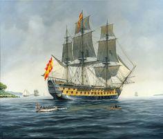 Carlos Parrilla Penagos - Naval Painting