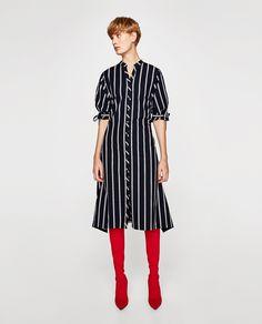 ZARA - WOMAN - ASYMMETRIC STRIPED DRESS