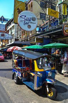 A tuk-tuk on Khao San Road - Bangkok, Thailand