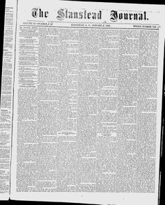 The Stanstead Journal - Google News Archive Search
