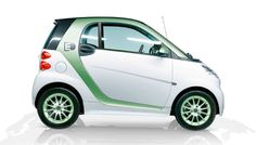 Electric Smart Car - runs purely on electricity. It can travel up to 122 miles on a single charge. No gas or oil, just make sure you have a place to plug it in.