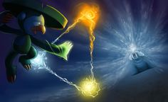 Lombre vs. Walrein by arkeis-pokemon.deviantart.com on @deviantART