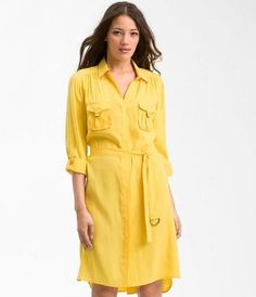 NWT $148 Suzi Chin by Maggy Boutique Yellow Shirtdress Sz 6 (Nordstrom)