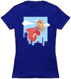 Supergirl Flying T-Shirt.