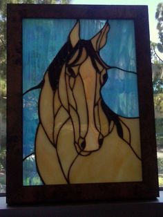 Quarter Horse Stained Glass Panel by ChaosTheoryGlassWork on Etsy