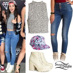 singer in Fifth Harmony Simple Outfits, Casual Outfits, Cute Outfits, Fashion Outfits, Fashion Hacks, Matthew Mcconaughey, Fifth Harmony Style, Steal Her Style, Style Casual