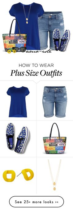 """Keds - Plus Size"" by amo-iste on Polyvore featuring H&M, Keds, Love Moschino, Jennifer Zeuner, Linda Farrow and Marc by Marc Jacobs"