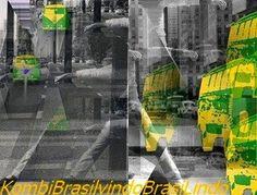 Cartão Postal - Kombi Brasil vindo Brasilindo, São Paulo, 1979.