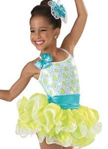 BRAND-NEW-CLEARANCE-Child-Intermediate-IC-Yellow-blue-Jazz-Dance-Costume