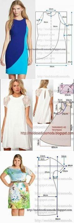Los patrones simples de los vestidos veraniegos
