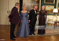 Prince Consort Henrik of Denmark, Camilla, Duchess of Cornwall, Prince Charles, Prince of Wales and Queen Margarethe II of Denmark attend an official dinner at the Royal Palace on March 26, 2012 in Copenhagen, Denmark. Prince Charles, Prince of Wales and Camilla, Duchess of Cornwall are on a Diamond Jubilee tour of Scandinavia that takes in Norway, Sweden and Denmark.