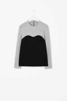 COS | Colour-block high-neck top