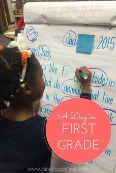 Follow us through a day in first grade. See first grade step by step, our routine, schedule and more.