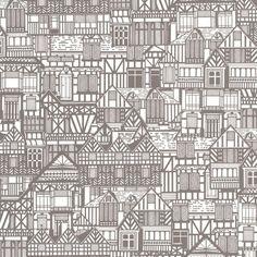 Tudor Houses   Graham and Brown Wallpaper
