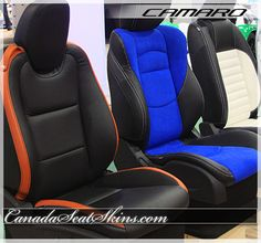 Custom Camaro Leather - look for it on our website - canadaseatskins.com or .ca