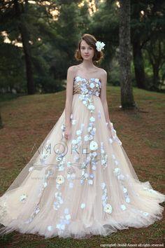 ウェディングドレス_ウエディングドレス_Aライン_プリンセス(w2030)二次会ドレス:ブライダルアモーレ